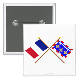 Crossed flags of France and Centre Button
