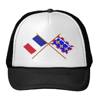 Crossed flags of France and Centre Hat