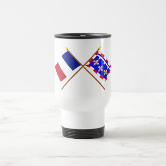 Crossed flags of France and Centre Coffee Mug