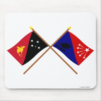 Crossed flags of PNG and Central Province Mouse Pad