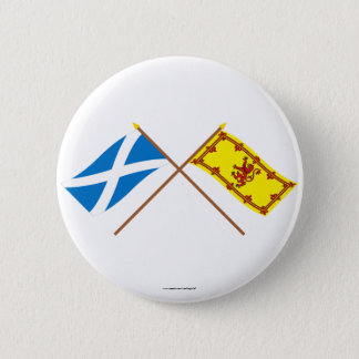 Crossed Flags of Scotland 2 Inch Round Button