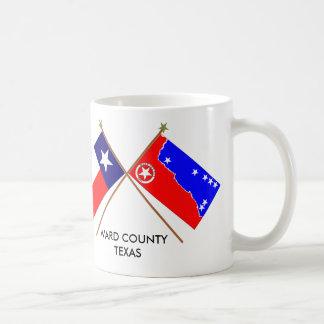 Crossed Flags of Texas and Ward County Coffee Mug