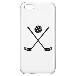 Crossed floorball sticks cover for iPhone 5C