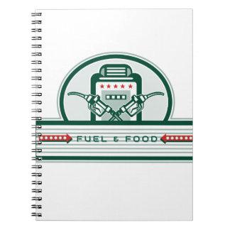 Crossed Fuel Nozzle Gas Pump Retro Notebook