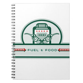 Crossed Fuel Nozzle Gas Pump Retro Spiral Notebook