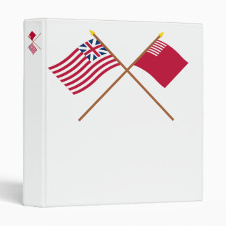 Crossed Grand Union and Forster-Knight Flags 3 Ring Binders