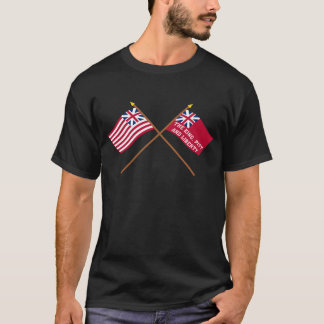 Crossed Grand Union and New York Liberty Flags T-Shirt