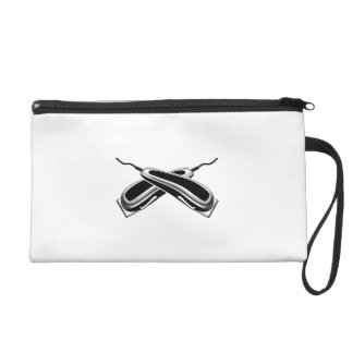 Crossed Hair Clippers Wristlet Purse