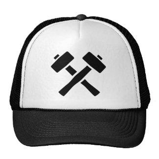 Crossed hammer trucker hat
