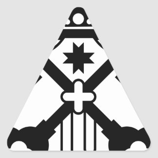 Crossed Keys symbol Triangle Sticker