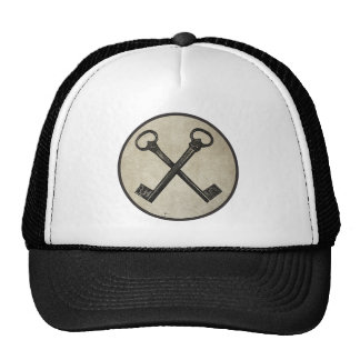 Crossed keys trucker hat
