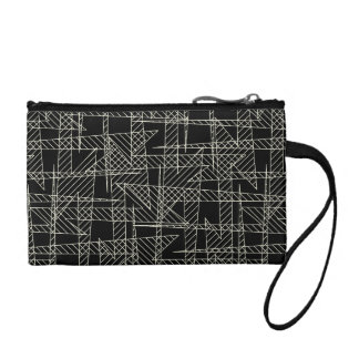 Crossed lines coin purse