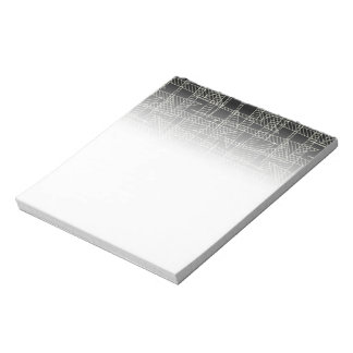 Crossed lines notepad