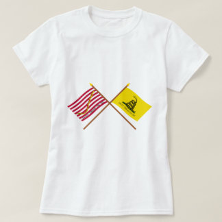 Crossed Navy Jack and Gadsden Flag T-Shirt