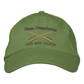 Crossed Paddles Embroidery for Club Camp Team Lake Embroidered Baseball Caps
