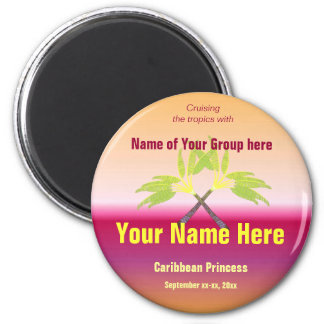 Crossed Palms Personalized Magnet