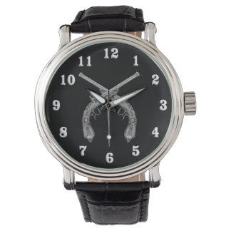 Crossed Pistols Black Watch