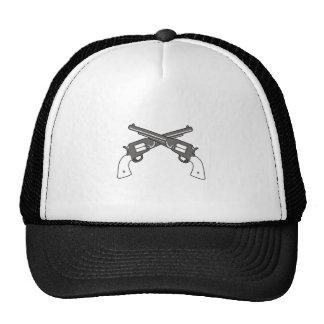 CROSSED PISTOLS TRUCKER HAT