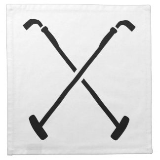 Crossed polo mallets printed napkin