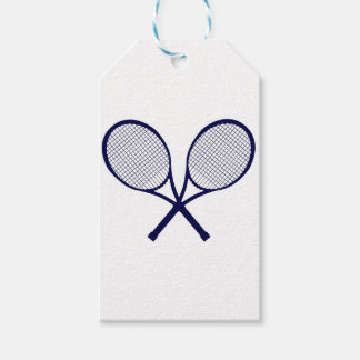 Crossed Rackets Silhouette Gift Tags