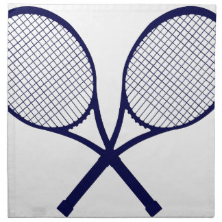 Crossed Rackets Silhouette Napkin