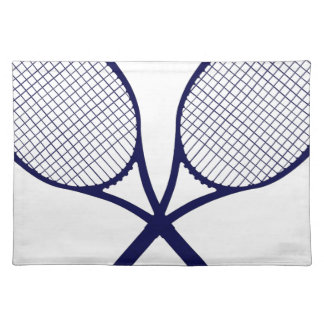 Crossed Rackets Silhouette Placemat