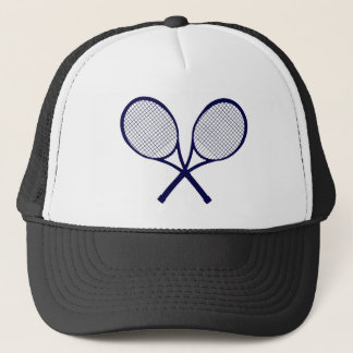 Crossed Rackets Silhouette Trucker Hat