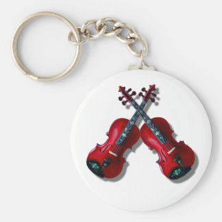 CROSSED RED VIOLINS -KEYCHAIN KEYCHAIN