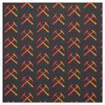 Crossed Rock Hammers Fabric