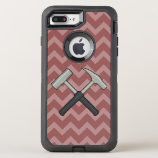 Crossed Rock Hammers with Chevron Pattern OtterBox Defender iPhone 8 Plus/7 Plus Case