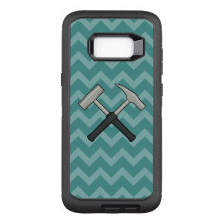 Crossed Rock Hammers with Chevron Pattern OtterBox Defender Samsung Galaxy S8+ Case