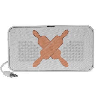 Crossed Rolling Pins Speakers