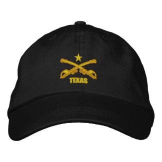 Crossed Sabers -Texas Embroidered Hat
