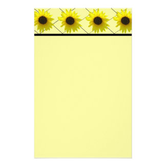 Crossed Sunflower Stationery Design