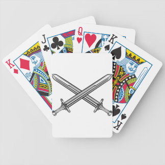 Crossed Swords Retro Style Bicycle Playing Cards