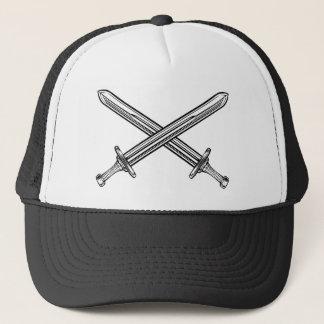 Crossed Swords Retro Style Trucker Hat
