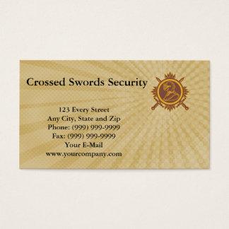 Crossed Swords Security Business Card