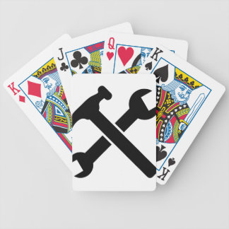 Crossed Tools Bicycle Playing Cards