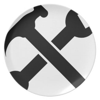 Crossed Tools Plate