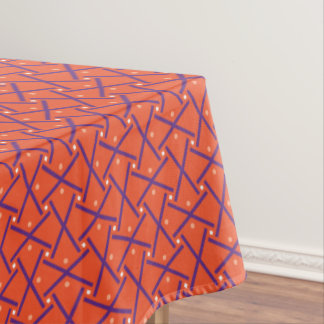 Crosses and Circles Halloween Colors Tablecloth