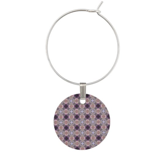 Crosses and circles wine charm