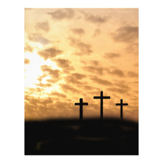 Crosses and Sunset Easter Flyer, Customizable Flyer