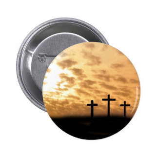 Crosses and Sunset Easter Pin