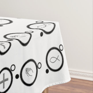 Crosses Ichthyses Praying Hands Tablecloth