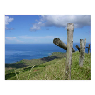 Crosses overlook the South Pacific Island of Guam Postcard