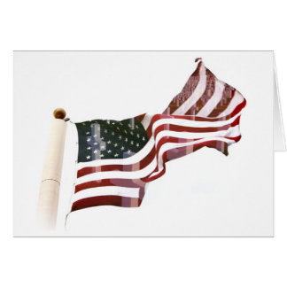 Crosses Within Old Glory - Memorial Day Card