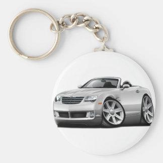 Crossfire White Convertible Keychain