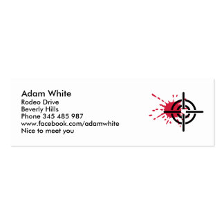 Crosshairs blood business card template