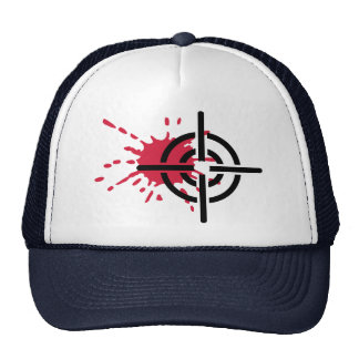 Crosshairs blood mesh hat