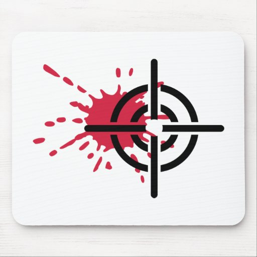 Crosshairs blood mouse pads